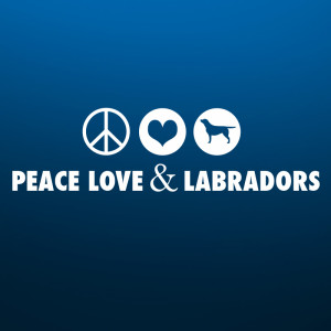 Peace, Love and Labradors sticker